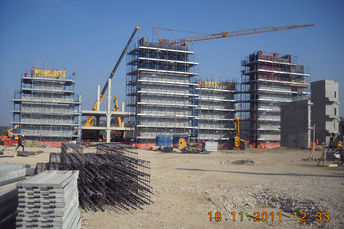 New construction commercial building
