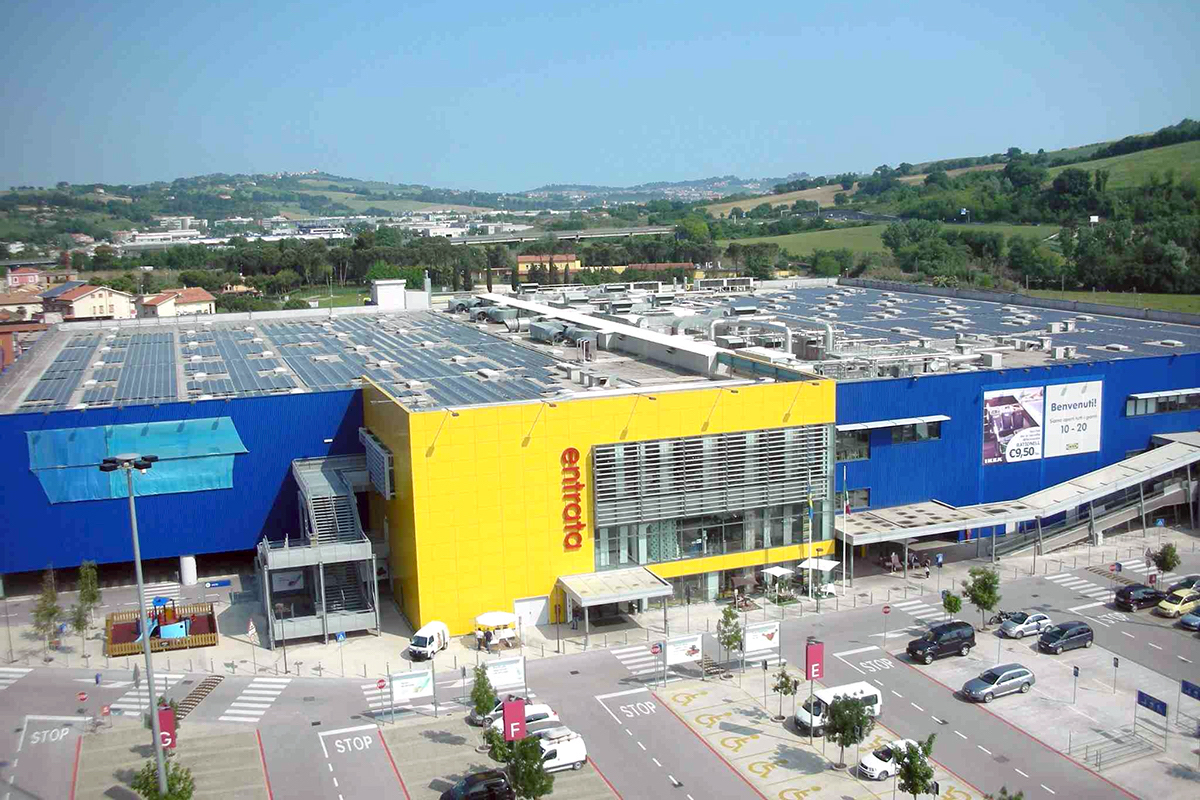 New photovoltaic system on the roof