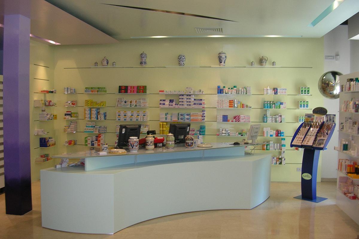 Bancone per farmacia