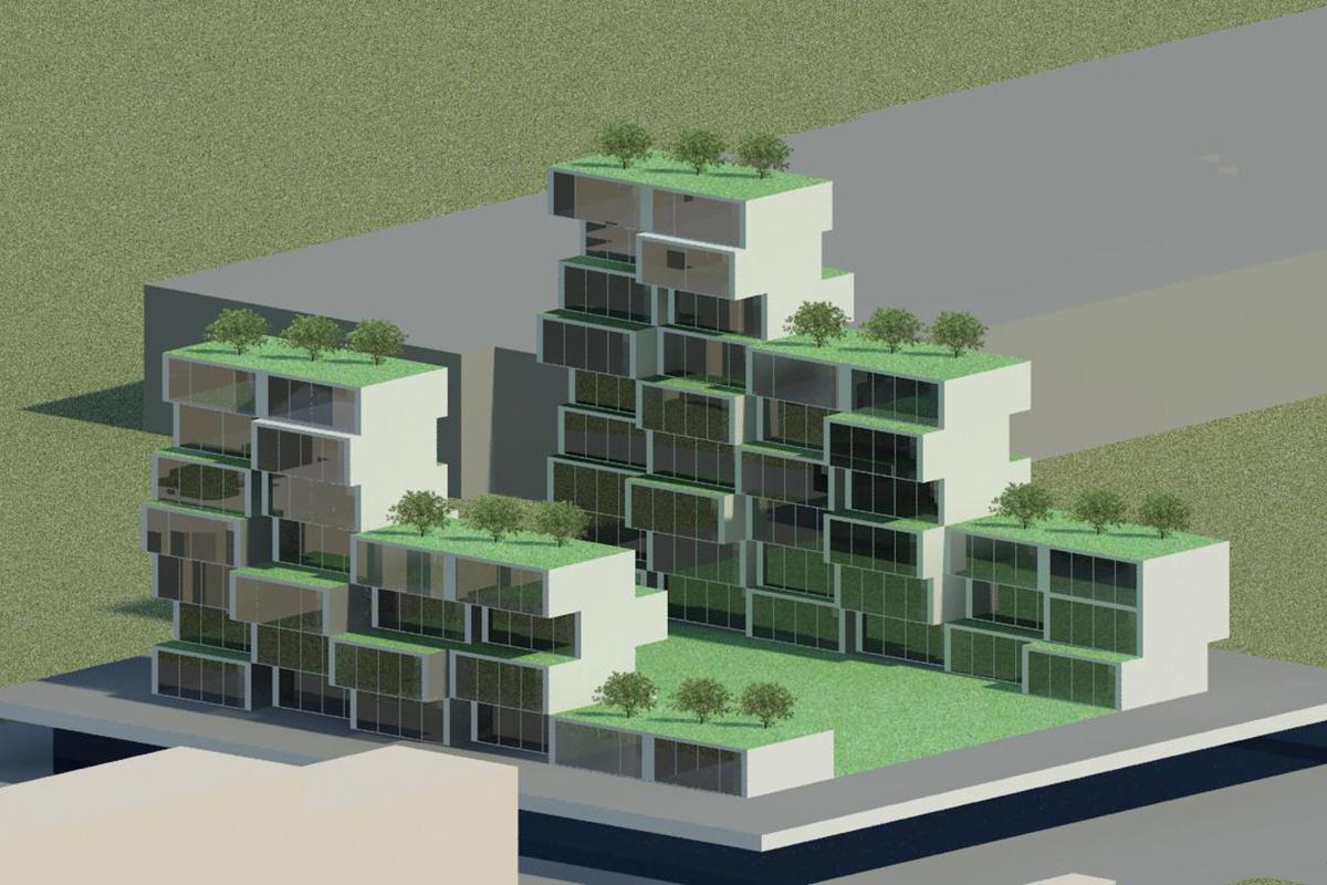 Studio nuovo edificio residenziale